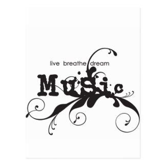 Live, Breathe, Dream Music Postcard