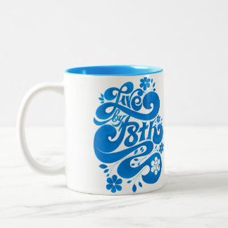 LIVE BY F8TH SCRIPT Two-Tone COFFEE MUG