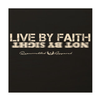 """Live by Faith 12""""x12"""" Wood Wall Art Wood Canvases"""