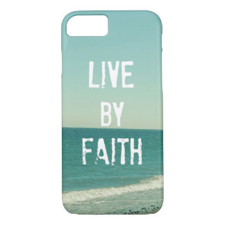 Live by Faith Bible Verse iPhone 7 Case