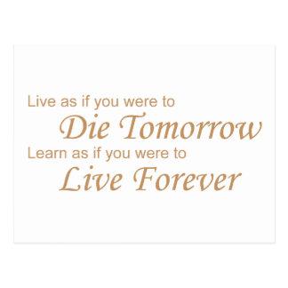 Live - Die Tomorrow yellow Postcard