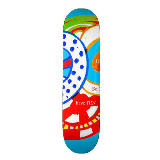 Live Dream Be Crazy Have Fun Colorful Doodle Skate Board Decks