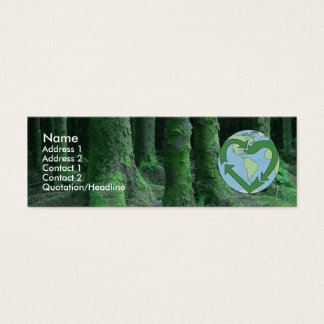 Live Earth Friendly Mini Business Card