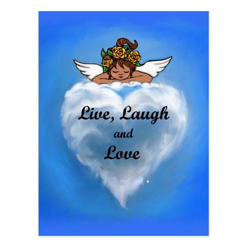 Live Ethnic Angel Postcard