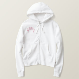Live every day... embroidered hoodie