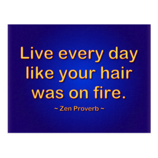 Live every day postcard