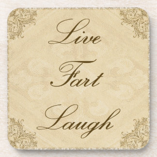 Live Fart Laugh Coaster