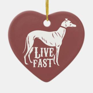 Live Fast Ceramic Ornament