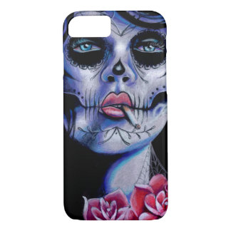 Live Fast Die Young Day of the Dead Portrait iPhone 7 Case