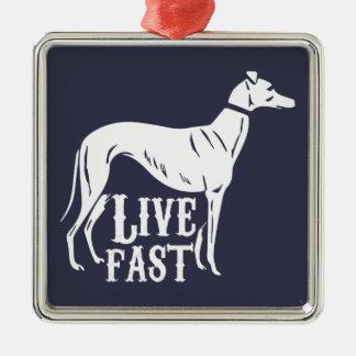 Live Fast Metal Ornament