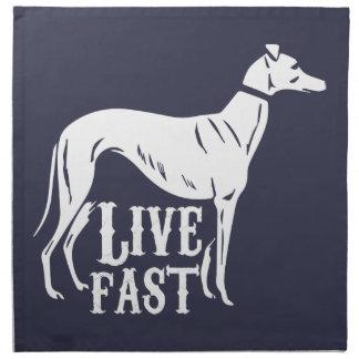 Live Fast Napkin