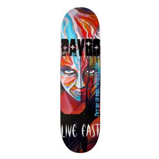 live fast skateboard