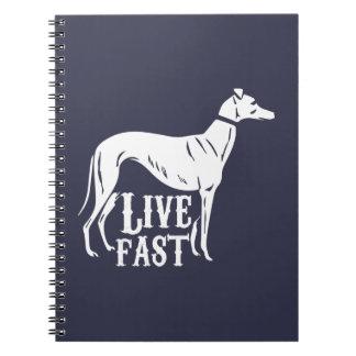 Live Fast Spiral Notebook