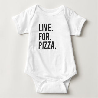Live for Pizza Print Baby Bodysuit