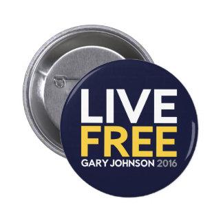 Live Free 2 Inch Round Button