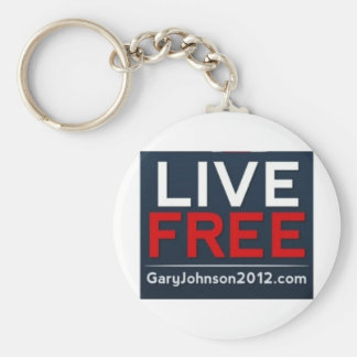 Live Free Gary Johnson for President 2012 Basic Round Button Keychain