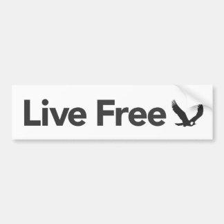 Live Free, Light Bumper Sticker