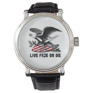 Live Free or Die American Eagle Freedom Watch USA