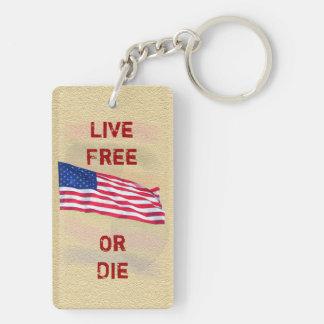 Live Free or Die - Keychain