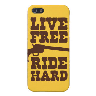 LIVE FREE RIDE HARD cowboy rodeo motto iPhone 5/5S Covers