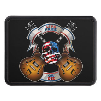 Live Free Skull and Guitars Hitch Covers