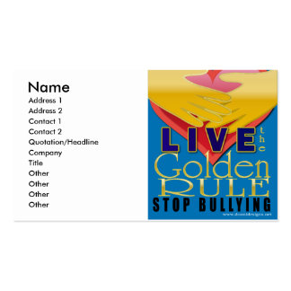 live golden rule stop bullying business cards