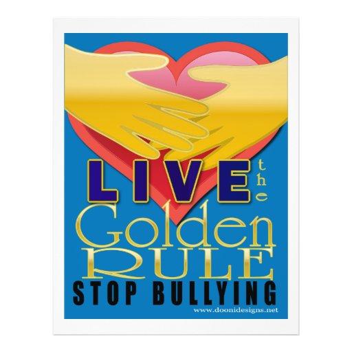 live golden rule stop bullying custom flyer