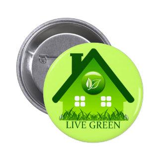 LIVE GREEN 2 INCH ROUND BUTTON