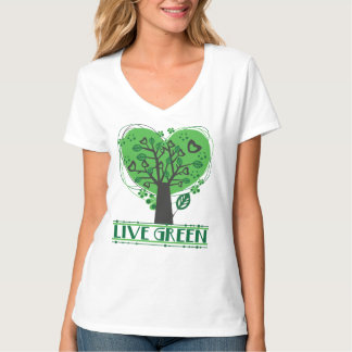 Live Green Abstract Tree Tees
