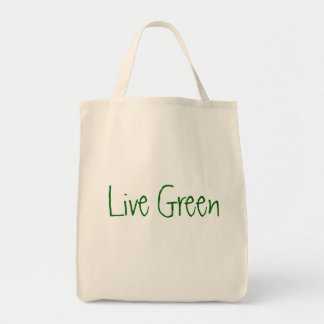 Live Green Grocery Tote Bag