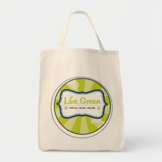 Live Green Canvas Bag