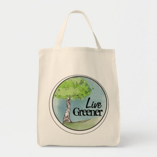 Live Green Tote Bags