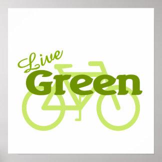 live green bike poster