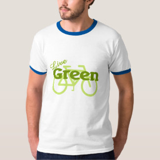 live green bike t-shirts