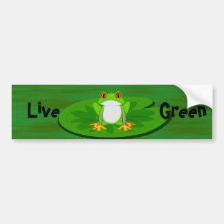 Live Green, bumbpersticker Bumper Sticker