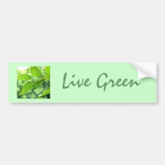 'Live Green' Bumper Sticker