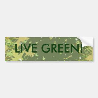 LIVE GREEN! BUMPER STICKERS