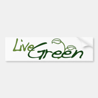 Live Green Bumper Stickers