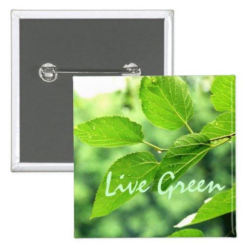 'Live Green' Button