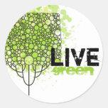 Live Green Classic Round Sticker