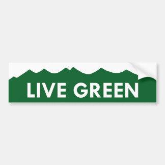 Live Green Colorado Sticker Bumper Sticker