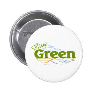 live green earth pinback button