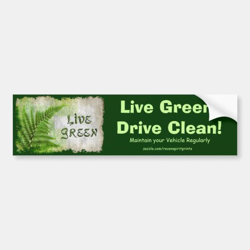 LIVE GREEN Eco Enviro Gift Items for Earth Day Bumper Sticker