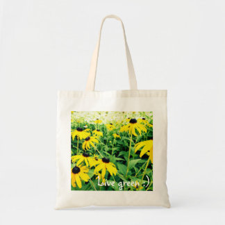 Live Green Flower Tote Budget Tote Bag