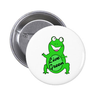 Live Green Froggie Buttons