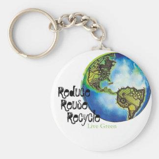 Live Green Key Chain