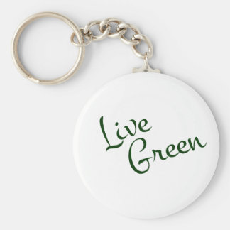 Live Green Key Chains