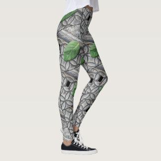 Live Green Leaf 2  Custom Leggings by Yotigo