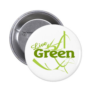 live green pinback buttons