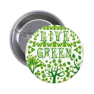 Live Green Pins